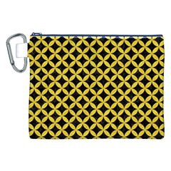 Circles3 Black Marble & Yellow Colored Pencil (r) Canvas Cosmetic Bag (xxl)