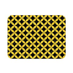 Circles3 Black Marble & Yellow Colored Pencil (r) Double Sided Flano Blanket (mini)