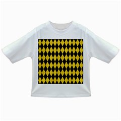 Diamond1 Black Marble & Yellow Colored Pencil Infant/toddler T Shirts