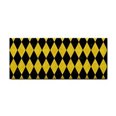 Diamond1 Black Marble & Yellow Colored Pencil Cosmetic Storage Cases