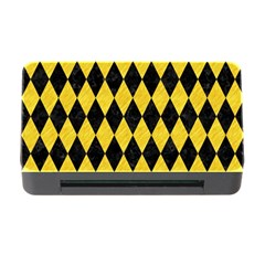 Diamond1 Black Marble & Yellow Colored Pencil Memory Card Reader With Cf