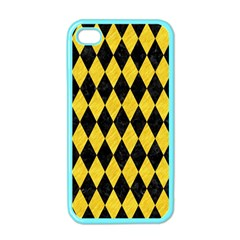 Diamond1 Black Marble & Yellow Colored Pencil Apple Iphone 4 Case (color)