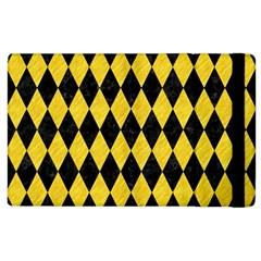Diamond1 Black Marble & Yellow Colored Pencil Apple Ipad 2 Flip Case