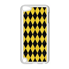 Diamond1 Black Marble & Yellow Colored Pencil Apple Ipod Touch 5 Case (white)