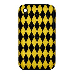 Diamond1 Black Marble & Yellow Colored Pencil Iphone 3s/3gs