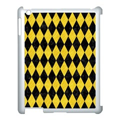Diamond1 Black Marble & Yellow Colored Pencil Apple Ipad 3/4 Case (white)