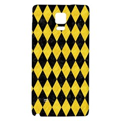 Diamond1 Black Marble & Yellow Colored Pencil Galaxy Note 4 Back Case