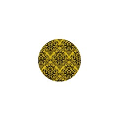 Damask1 Black Marble & Yellow Colored Pencil 1  Mini Magnets