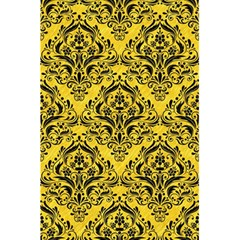 Damask1 Black Marble & Yellow Colored Pencil 5 5  X 8 5  Notebooks