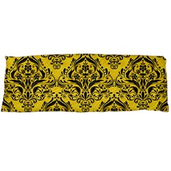 Damask1 Black Marble & Yellow Colored Pencil Body Pillow Case Dakimakura (two Sides)