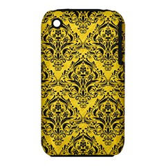 Damask1 Black Marble & Yellow Colored Pencil Iphone 3s/3gs