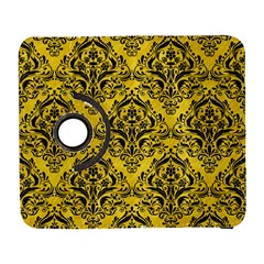Damask1 Black Marble & Yellow Colored Pencil Galaxy S3 (flip/folio)