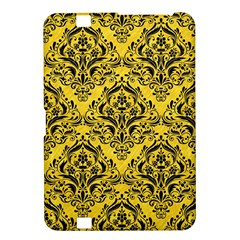 Damask1 Black Marble & Yellow Colored Pencil Kindle Fire Hd 8 9