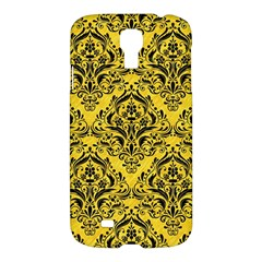 Damask1 Black Marble & Yellow Colored Pencil Samsung Galaxy S4 I9500/i9505 Hardshell Case