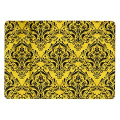 Damask1 Black Marble & Yellow Colored Pencil Samsung Galaxy Tab 10 1  P7500 Flip Case