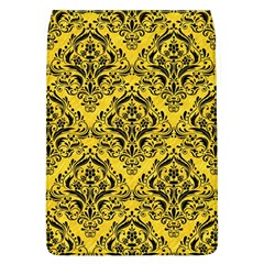 Damask1 Black Marble & Yellow Colored Pencil Flap Covers (l)