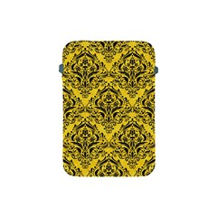 Damask1 Black Marble & Yellow Colored Pencil Apple Ipad Mini Protective Soft Cases