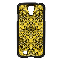 Damask1 Black Marble & Yellow Colored Pencil Samsung Galaxy S4 I9500/ I9505 Case (black)