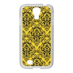 Damask1 Black Marble & Yellow Colored Pencil Samsung Galaxy S4 I9500/ I9505 Case (white)