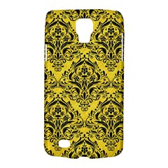 Damask1 Black Marble & Yellow Colored Pencil Galaxy S4 Active