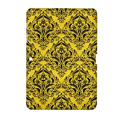 Damask1 Black Marble & Yellow Colored Pencil Samsung Galaxy Tab 2 (10 1 ) P5100 Hardshell Case