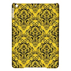 Damask1 Black Marble & Yellow Colored Pencil Ipad Air Hardshell Cases