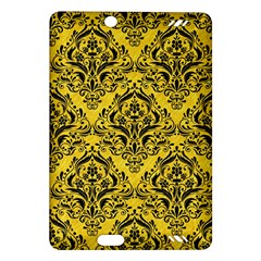 Damask1 Black Marble & Yellow Colored Pencil Amazon Kindle Fire Hd (2013) Hardshell Case