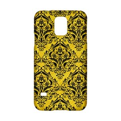 Damask1 Black Marble & Yellow Colored Pencil Samsung Galaxy S5 Hardshell Case