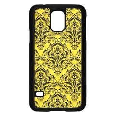 Damask1 Black Marble & Yellow Colored Pencil Samsung Galaxy S5 Case (black)