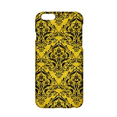 Damask1 Black Marble & Yellow Colored Pencil Apple Iphone 6/6s Hardshell Case