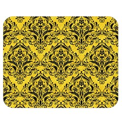 Damask1 Black Marble & Yellow Colored Pencil Double Sided Flano Blanket (medium)