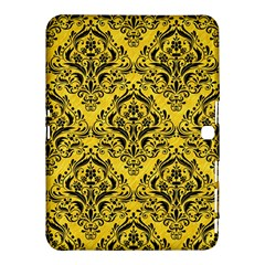 Damask1 Black Marble & Yellow Colored Pencil Samsung Galaxy Tab 4 (10 1 ) Hardshell Case