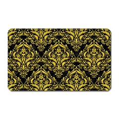 Damask1 Black Marble & Yellow Colored Pencil (r) Magnet (rectangular)
