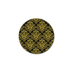 Damask1 Black Marble & Yellow Colored Pencil (r) Golf Ball Marker (10 Pack)