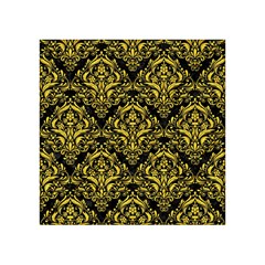 Damask1 Black Marble & Yellow Colored Pencil (r) Acrylic Tangram Puzzle (4  X 4 )