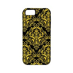 Damask1 Black Marble & Yellow Colored Pencil (r) Apple Iphone 5 Classic Hardshell Case (pc+silicone)