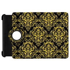 Damask1 Black Marble & Yellow Colored Pencil (r) Kindle Fire Hd 7