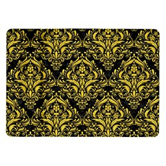 Damask1 Black Marble & Yellow Colored Pencil (r) Samsung Galaxy Tab 10 1  P7500 Flip Case