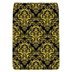 Damask1 Black Marble & Yellow Colored Pencil (r) Flap Covers (l)