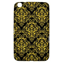 Damask1 Black Marble & Yellow Colored Pencil (r) Samsung Galaxy Tab 3 (8 ) T3100 Hardshell Case