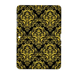 Damask1 Black Marble & Yellow Colored Pencil (r) Samsung Galaxy Tab 2 (10 1 ) P5100 Hardshell Case