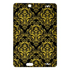 Damask1 Black Marble & Yellow Colored Pencil (r) Amazon Kindle Fire Hd (2013) Hardshell Case