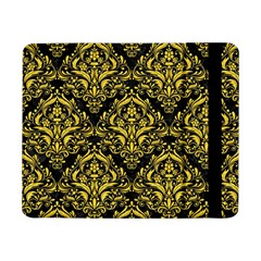 Damask1 Black Marble & Yellow Colored Pencil (r) Samsung Galaxy Tab Pro 8 4  Flip Case