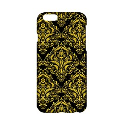 Damask1 Black Marble & Yellow Colored Pencil (r) Apple Iphone 6/6s Hardshell Case