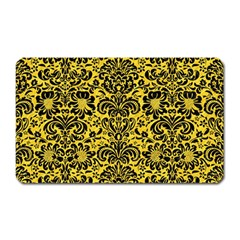 Damask2 Black Marble & Yellow Colored Pencil Magnet (rectangular)