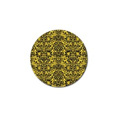 Damask2 Black Marble & Yellow Colored Pencil Golf Ball Marker (10 Pack)