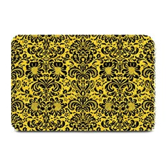 Damask2 Black Marble & Yellow Colored Pencil Plate Mats