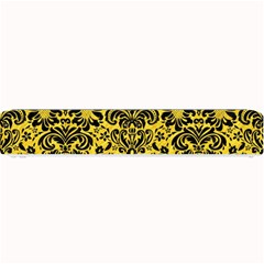 Damask2 Black Marble & Yellow Colored Pencil Small Bar Mats