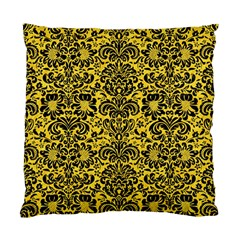 Damask2 Black Marble & Yellow Colored Pencil Standard Cushion Case (two Sides)