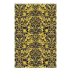 Damask2 Black Marble & Yellow Colored Pencil Shower Curtain 48  X 72  (small)